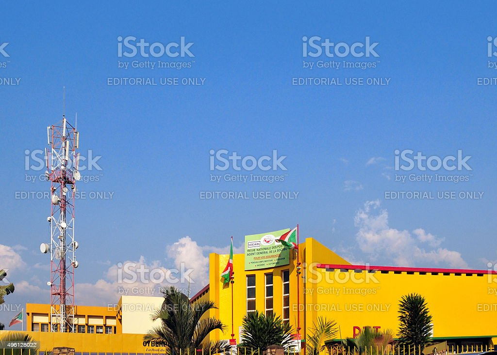 Bujumbura; Burundi: central post office stock photo