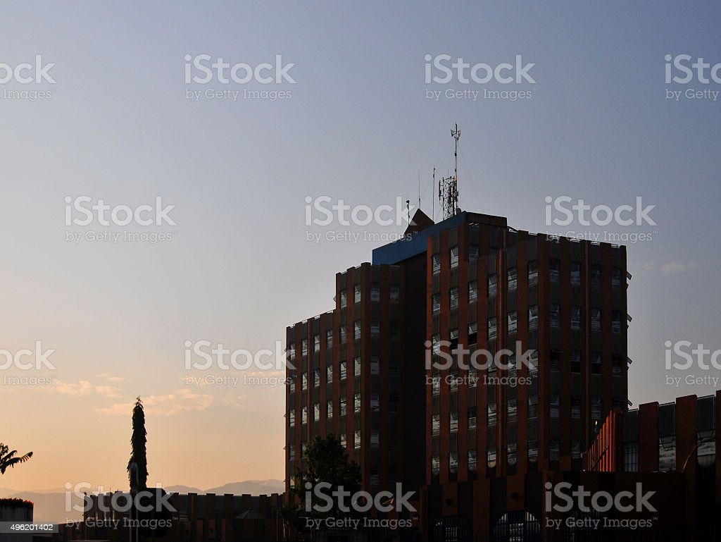 Bujumbura, Burundi: Ecobank tower stock photo
