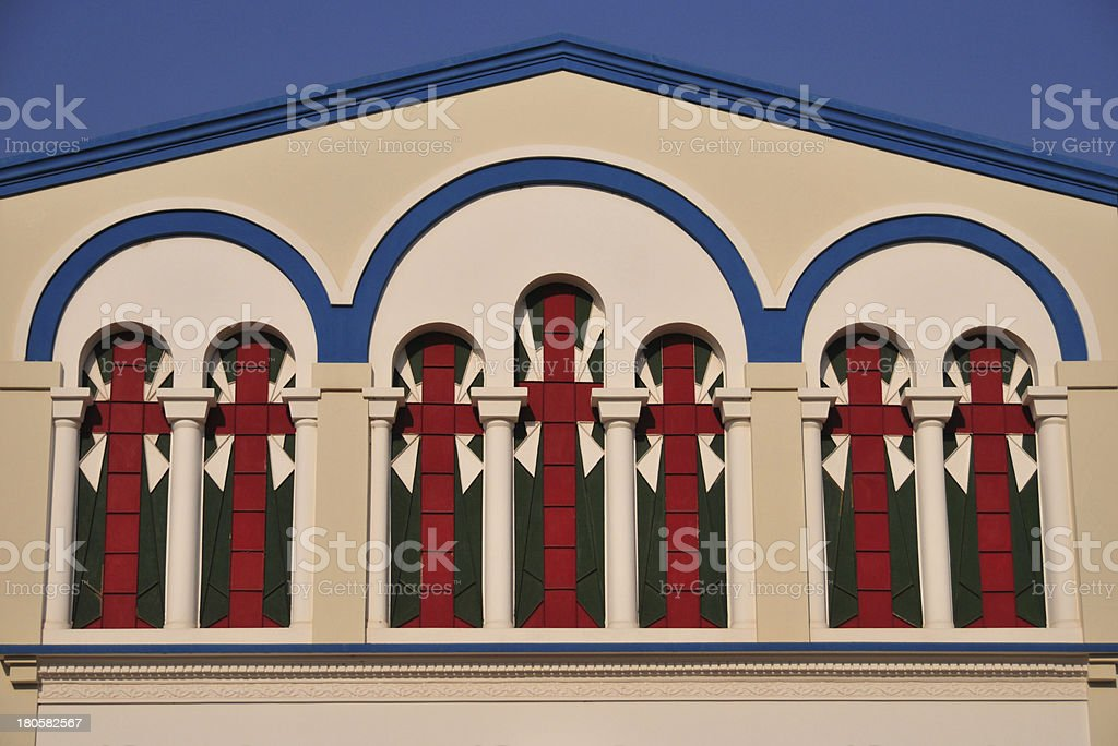 Bujumbura, Burundi: St. George's Greek Orthodox Church, windows stock photo