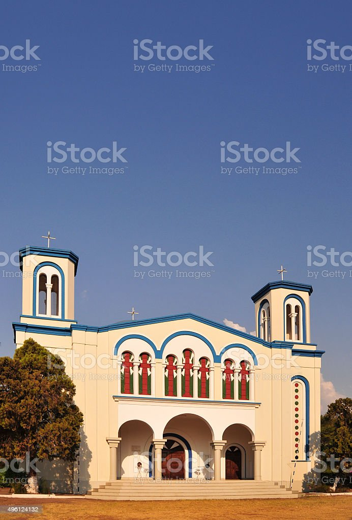 Bujumbura Greek Orthodox church, Burundi stock photo