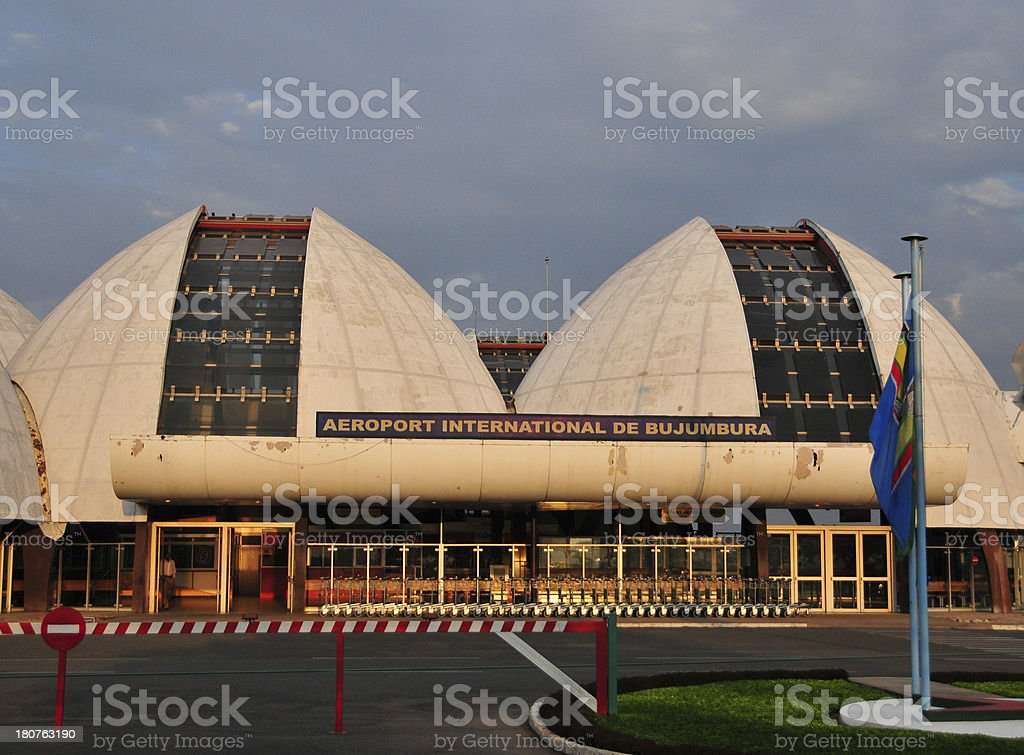 Bujumbura International Airport, main terminal stock photo