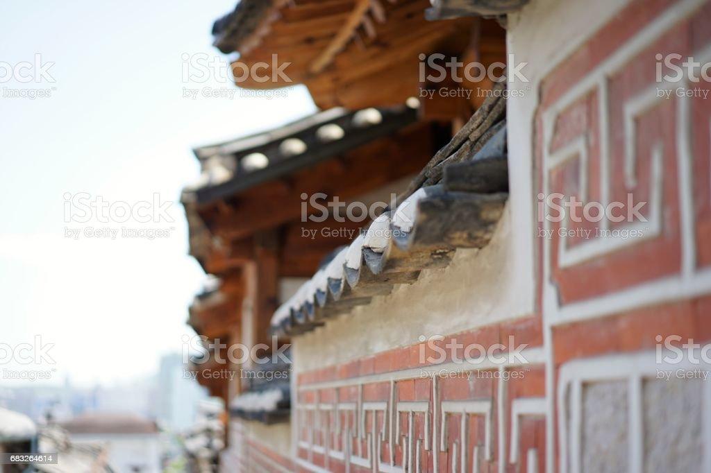 Bukchon Hanok Village in Seoul stock photo