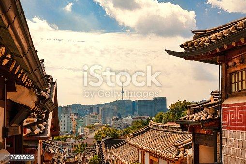 istock Bukchon Hanok Village of Seoul city 1176585639