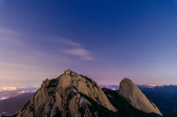 Bukhansan Mountain.Seoul City,Corea del Sur - foto de stock