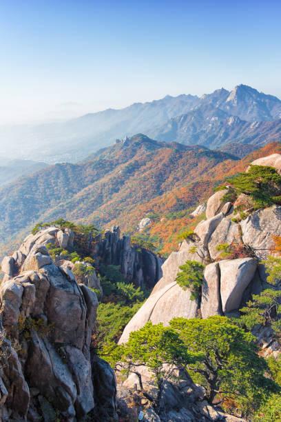 Bukhansan National Park, Seoul Korea in Autumn stock photo