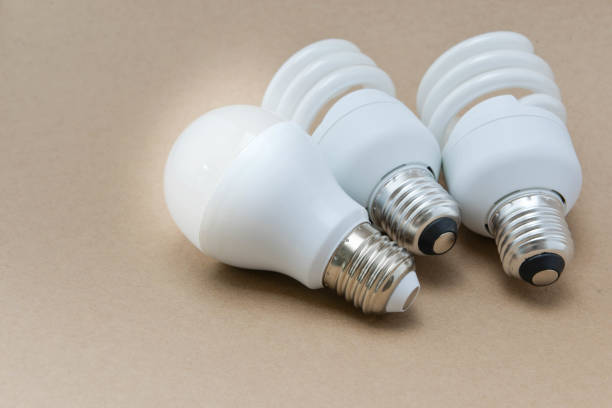 LED bulb and Compact Fluorescent bulb - The  alternative technology LED bulb and Compact Fluorescent bulb - The  alternative technology canadian football league stock pictures, royalty-free photos & images