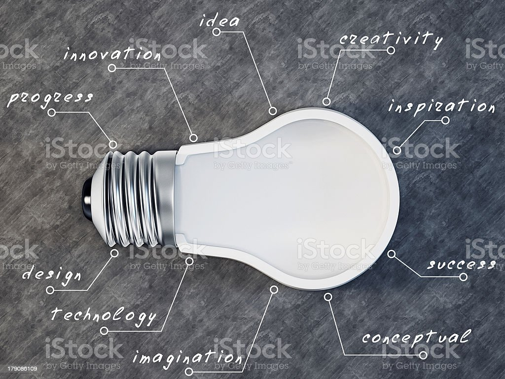 bulb background stock photo