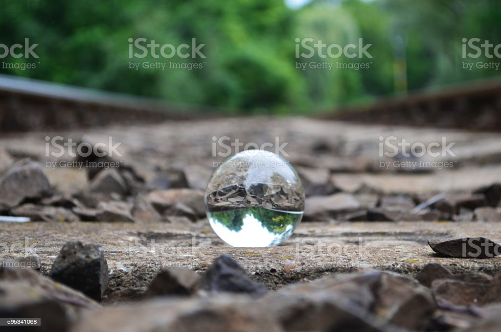 bulb between the railway - foto de acervo