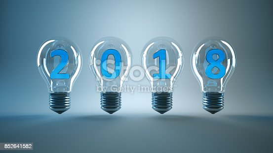 istock Bulb concept New year 2018 852641582
