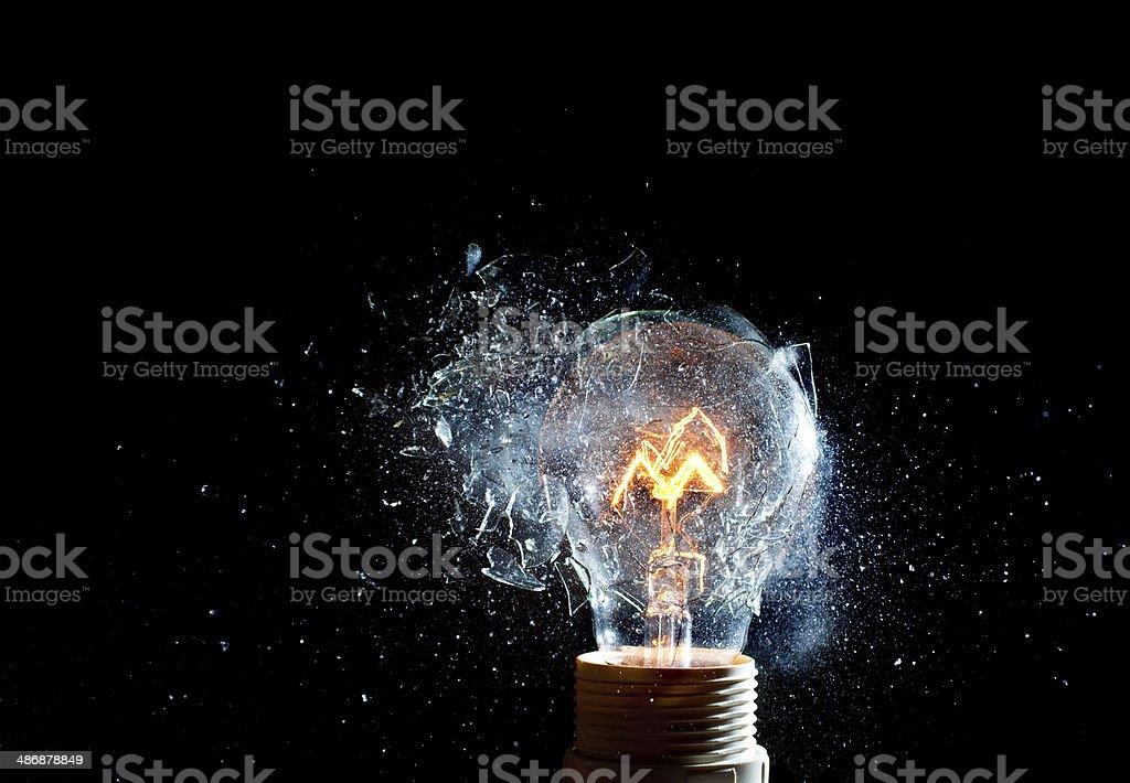 bulb explosion stock photo