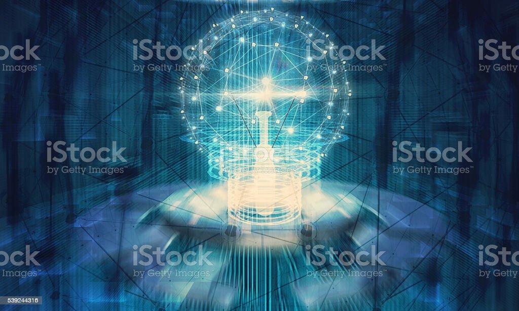 Lámpara futuro tecnología foto de stock libre de derechos