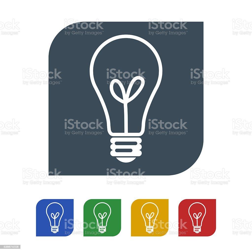 Bulb icon isolated on white background stock photo