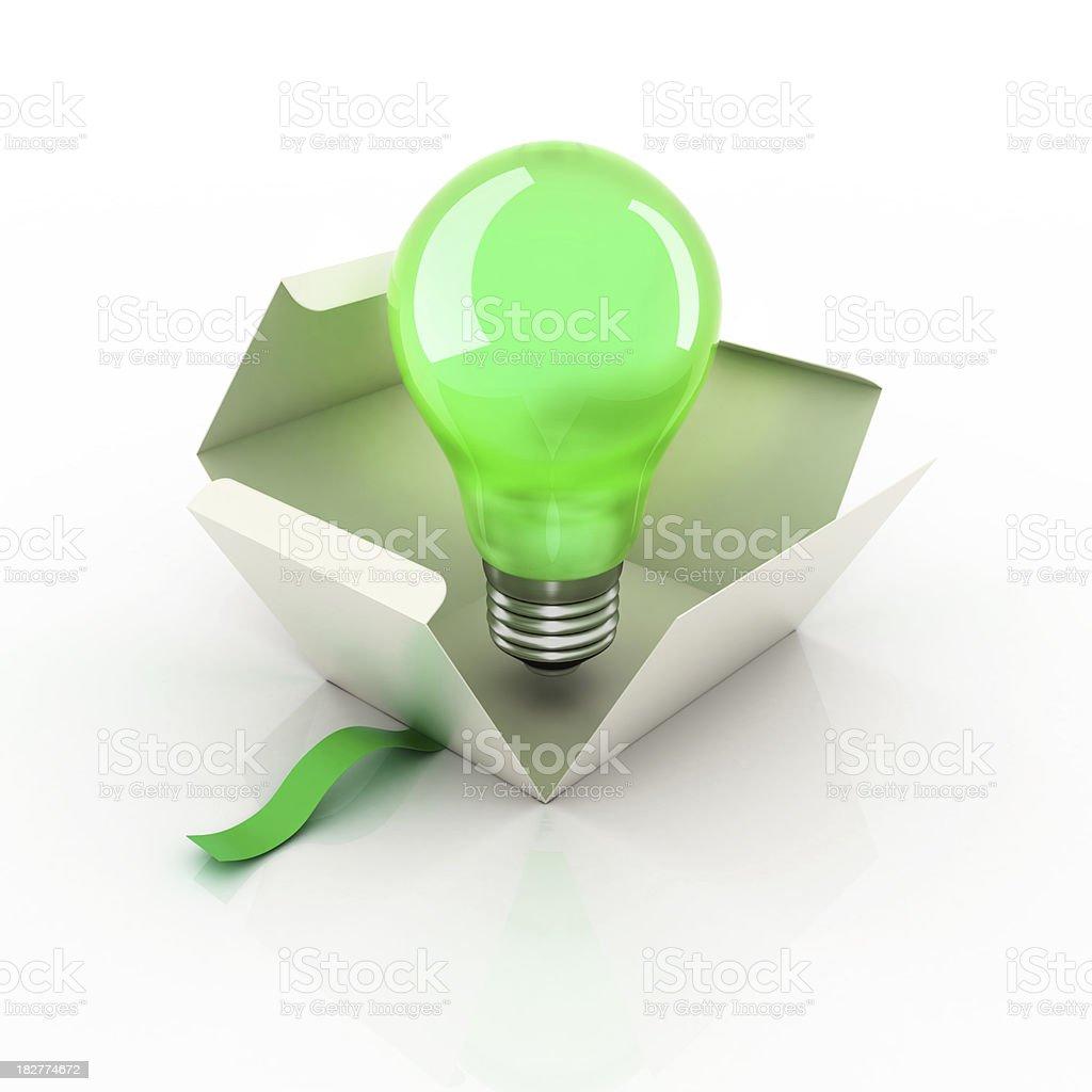 Bulb Idea Box stock photo