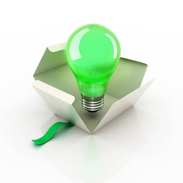 電球アイデアボックス - アイコン プレゼント ストックフォトと画像