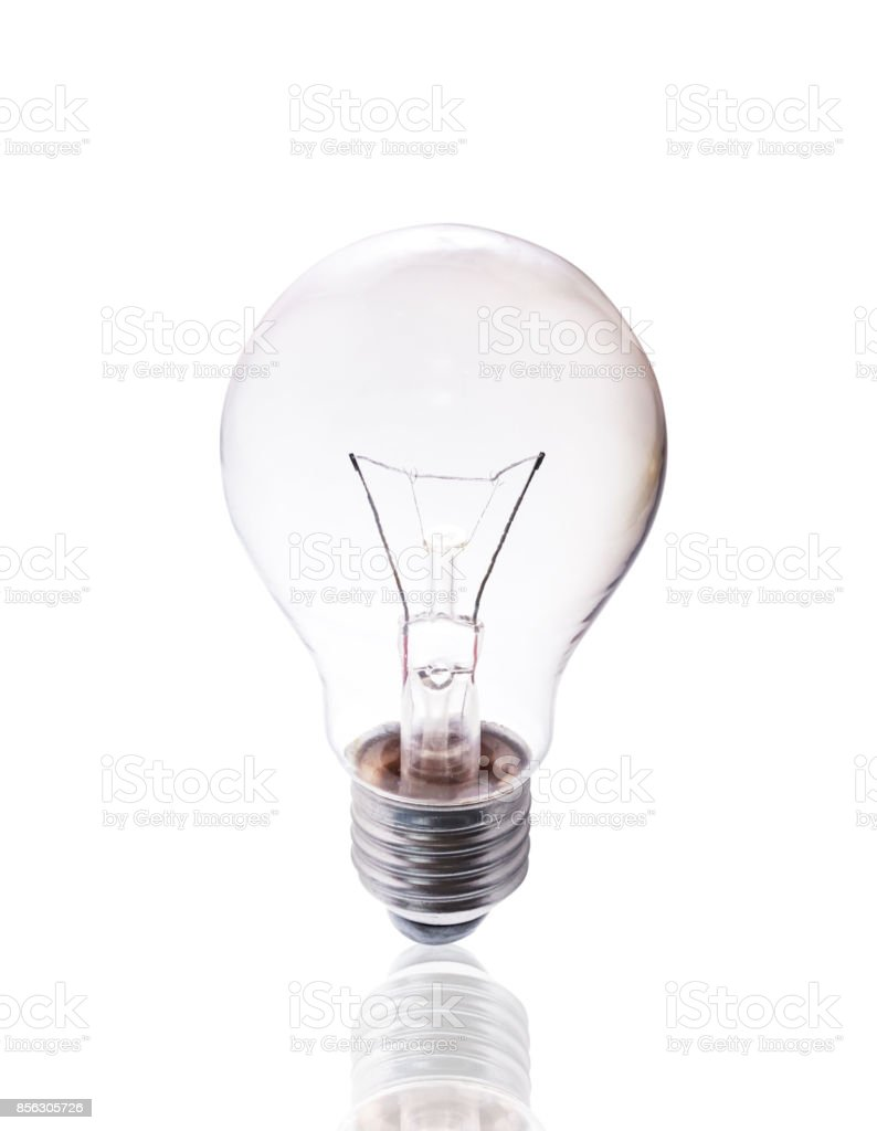 Bulb isolated on white background with clipping path. stock photo