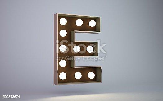 istock bulb light text element E 500843674