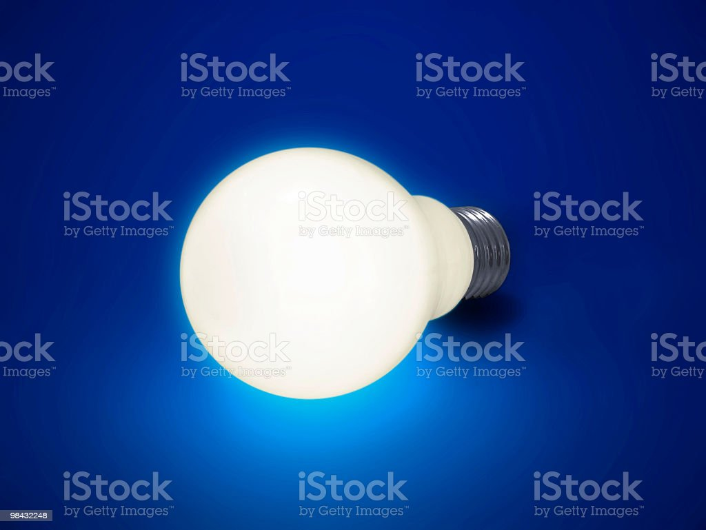 Lampadina illumina foto stock royalty-free