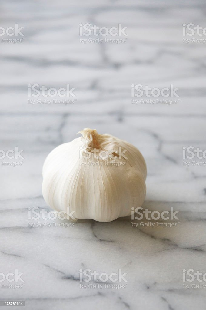 Bulb of White Garlic stock photo