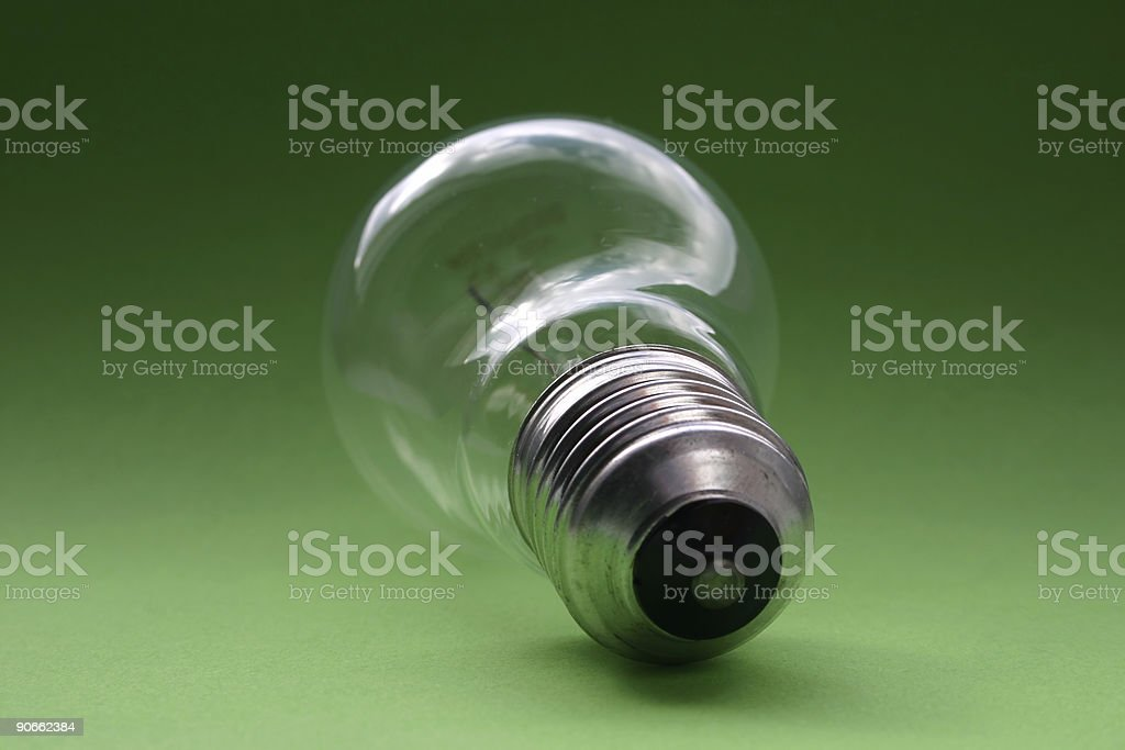 bulb on green royalty-free stock photo
