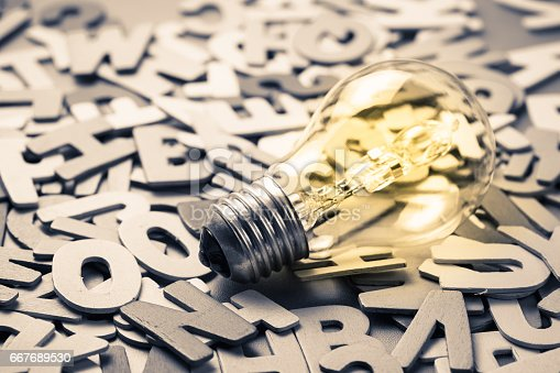 istock Bulb on Letters 667689530