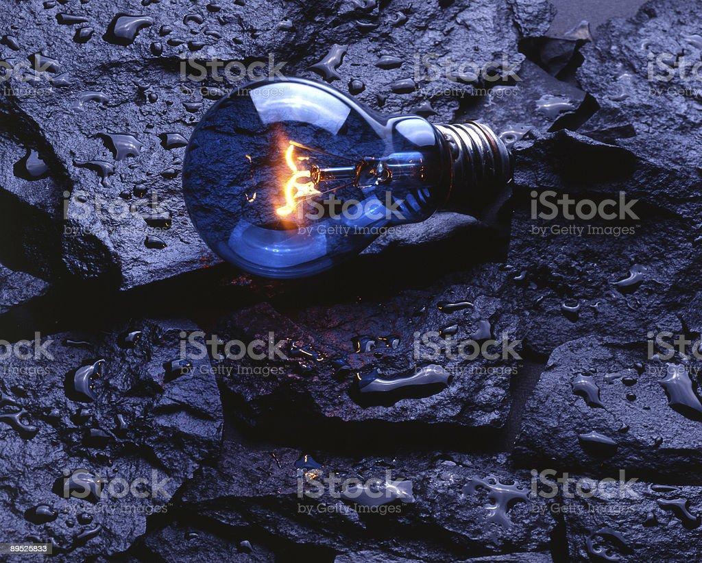 Bulb on rocks royalty-free stock photo