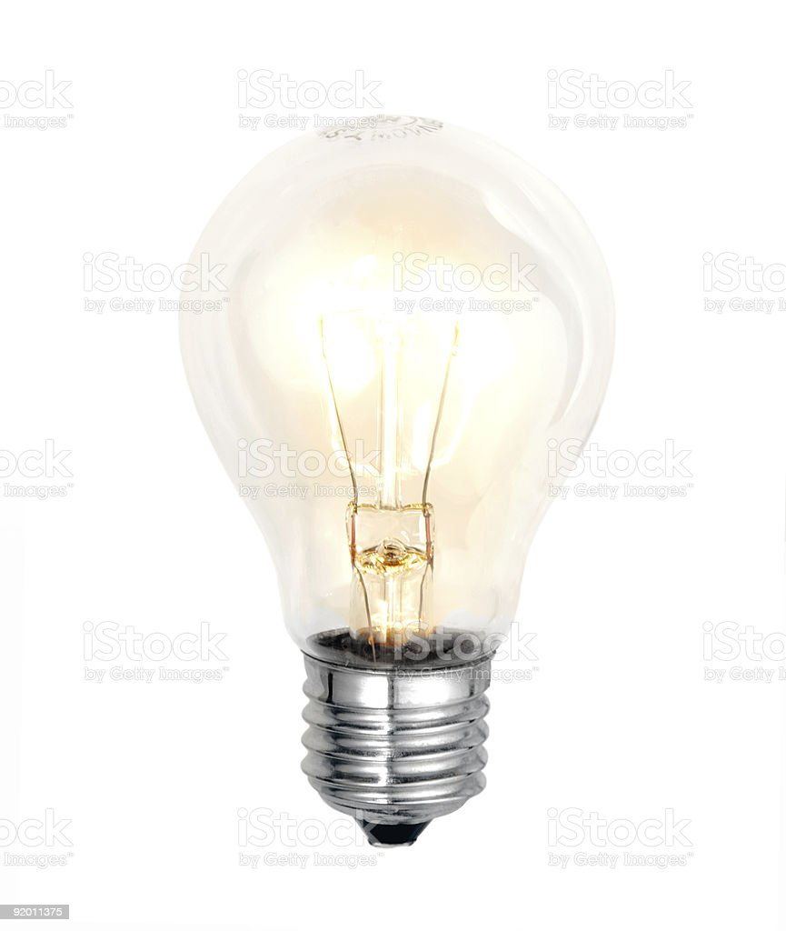 bulb on white background stock photo