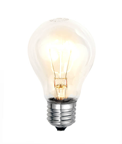 bulb on white background stock photo