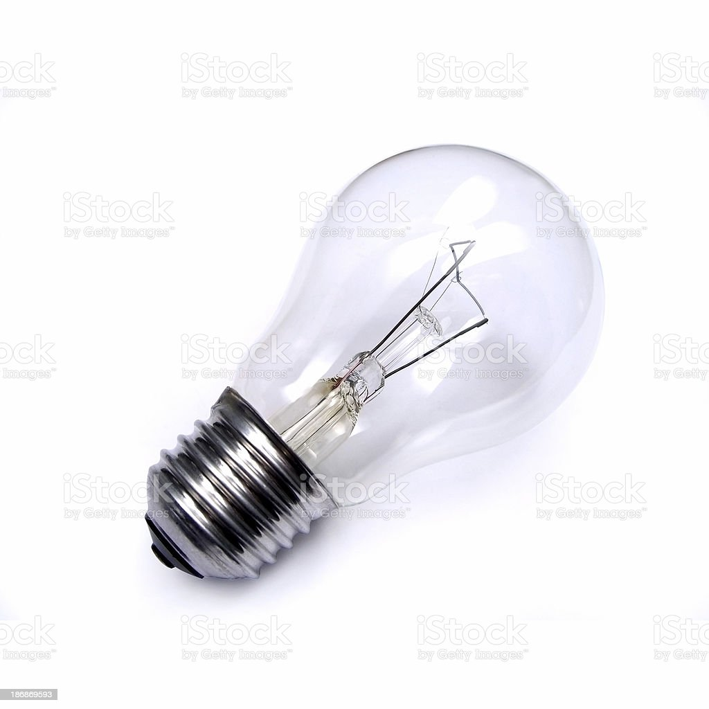 Bulb on white royalty-free stock photo