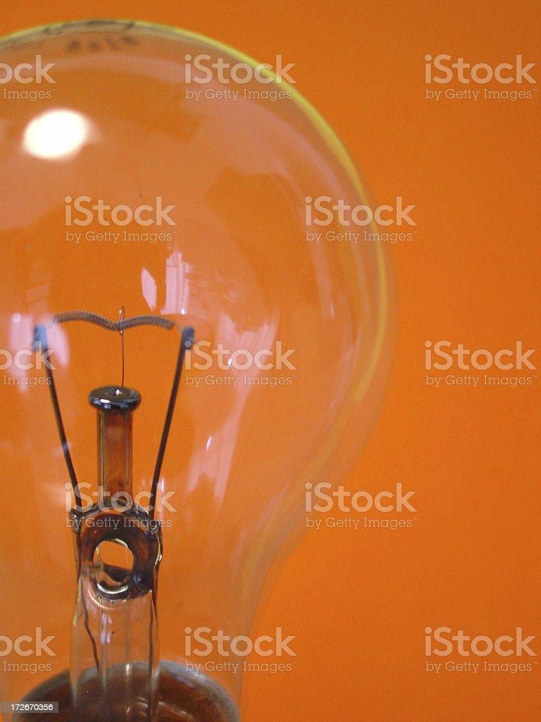 bulb - orange royalty-free stock photo