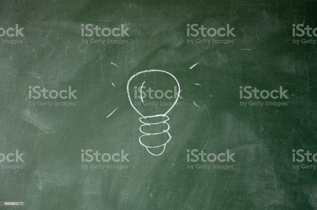 bulb sign stock photo