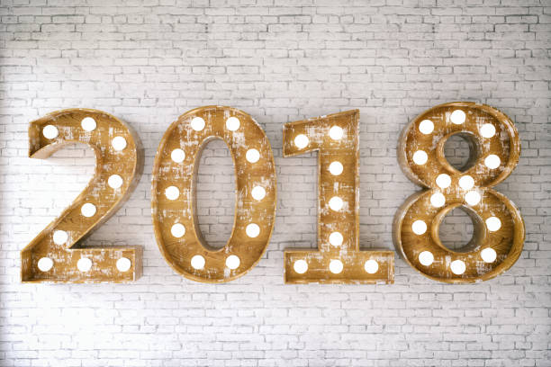 2018 Bulb Sign stock photo