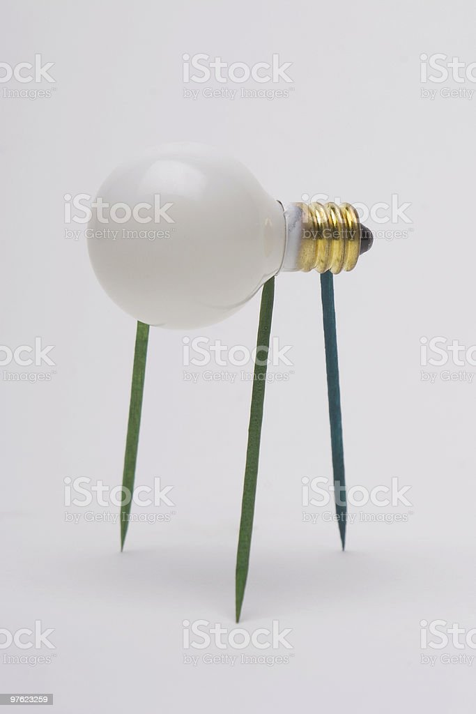 Bulb walker royalty-free stock photo