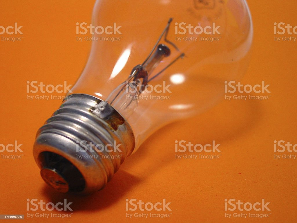 bulb-orange 2 royalty-free stock photo