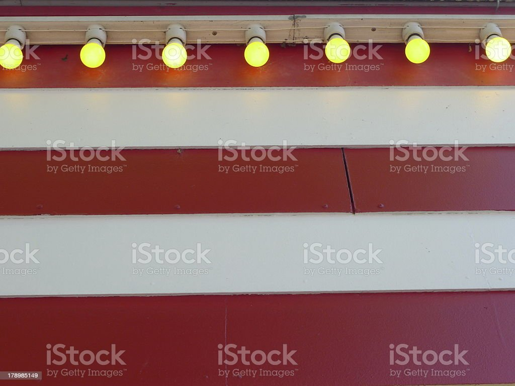 bulbs and stripes royalty-free stock photo