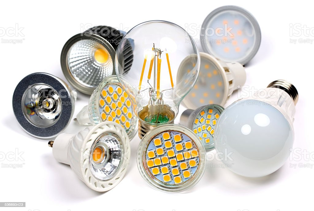 LED Bulbs stock photo