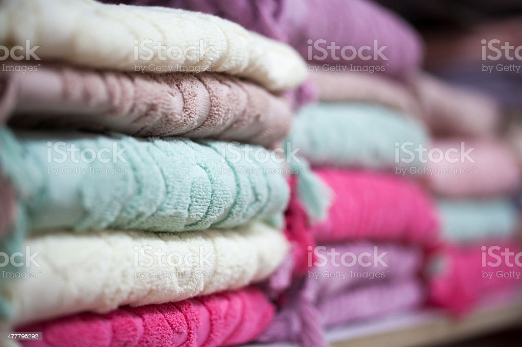 buldan towels stock photo