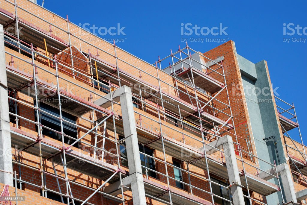 Bulding in construction stock photo