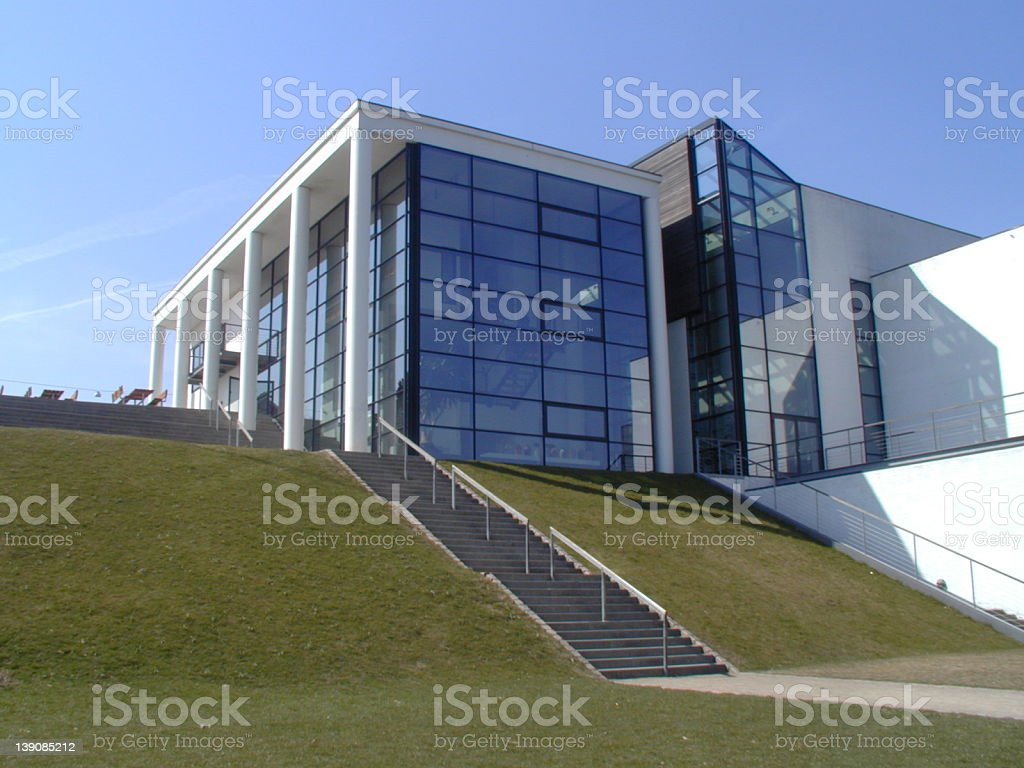 Bulding - white designer building royalty-free stock photo