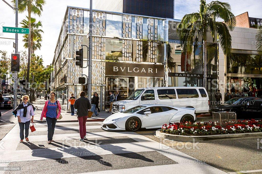 Bulgari Store On Rodeo Drive Beverly Hills Stock Photo