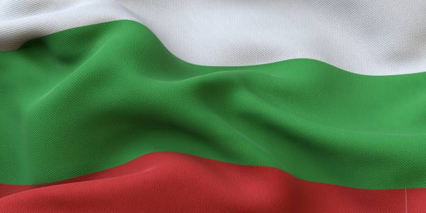 Bulgaria Flag Close Up stock photo