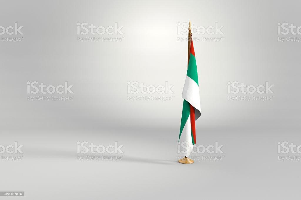 Bulgaria flag on mast 3d illustration stock photo