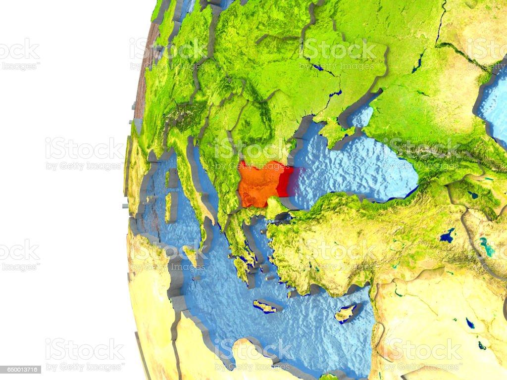 Bulgaria in red stock photo