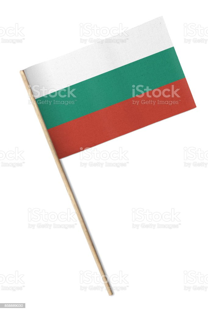 Bulgaria Small flag isolated on a white background stock photo