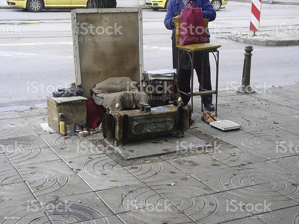 Bulgaria street stand royalty-free stock photo