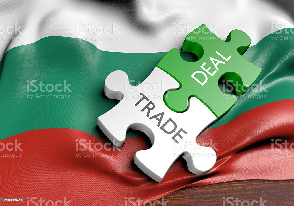 Bulgaria trade deals and international commerce concept, 3D rendering royalty-free stock photo