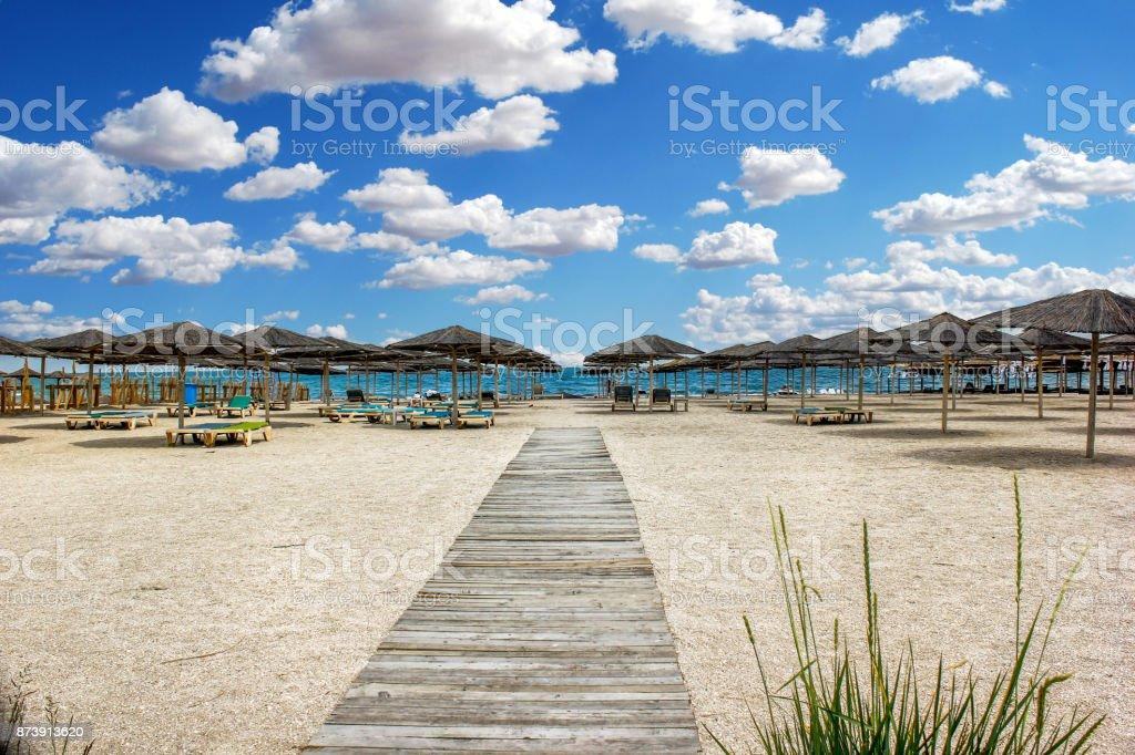 Bulgaria Varna Beach stock photo