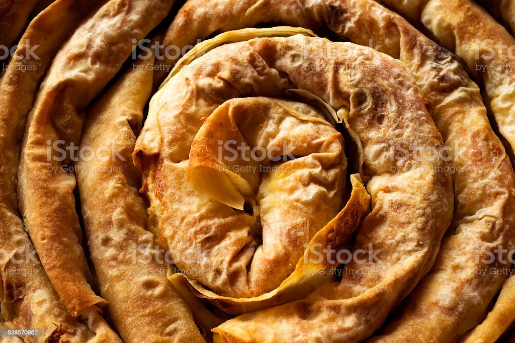 bulgarian baked pie stock photo