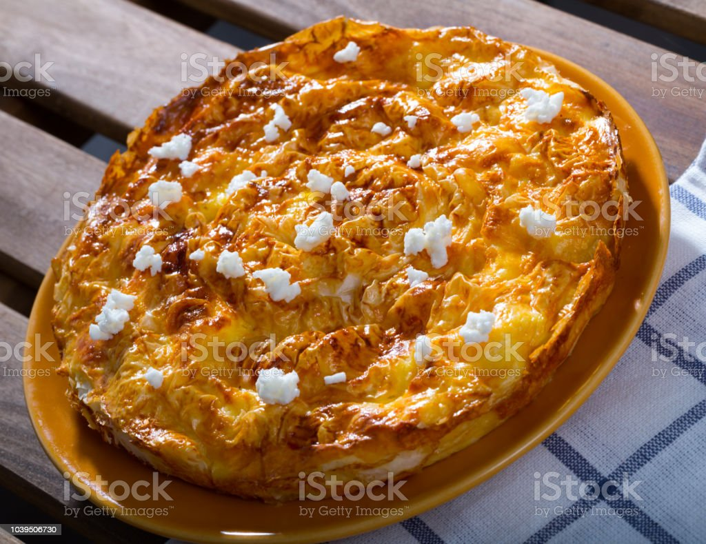 Bulgarian Banitsa stock photo