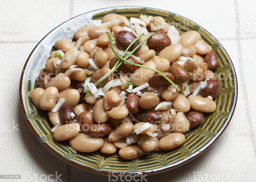 Bulgarian beans salad royalty-free stock photo