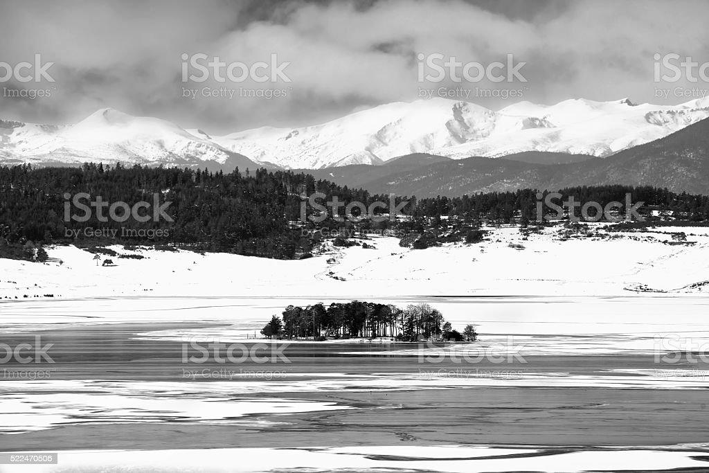 bulgarian black and white landscape stock photo